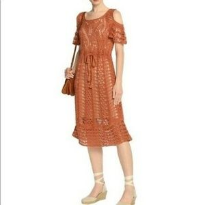 See by chloe cold shoulder crochet midi dress S